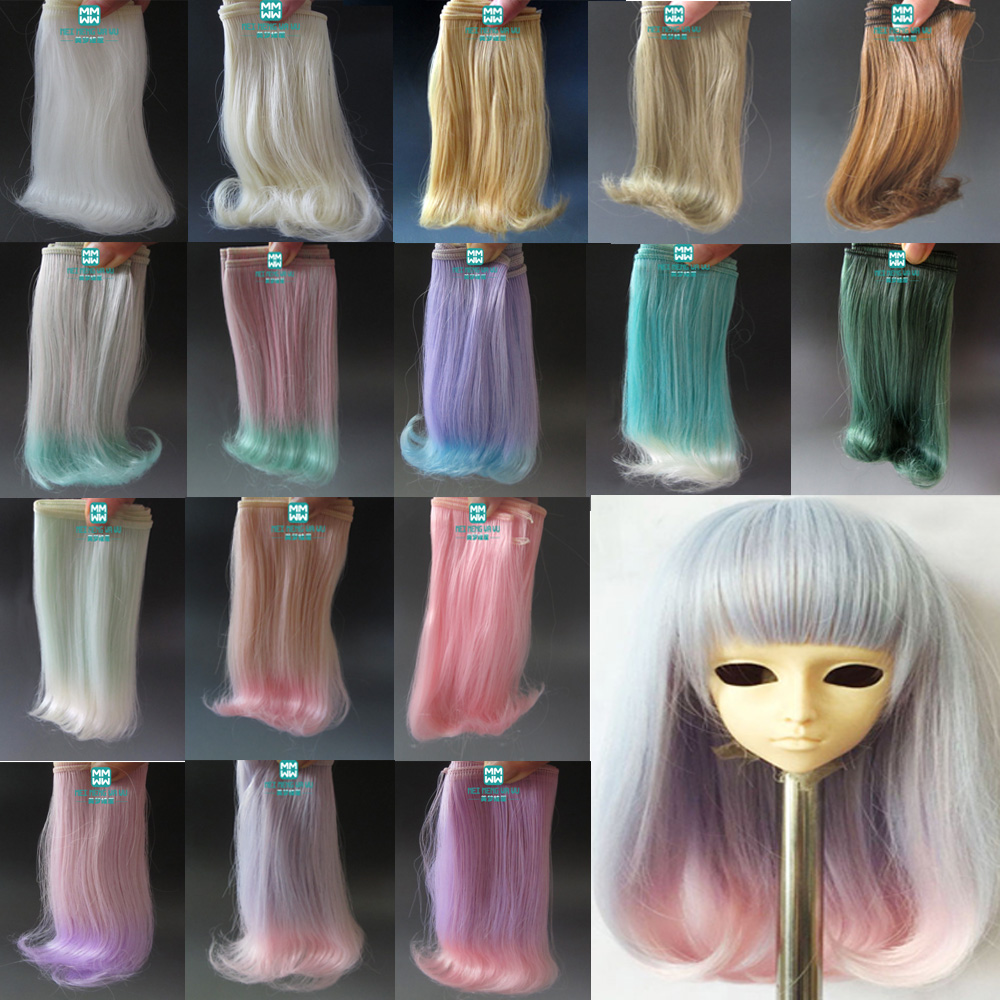 1pcs 15cm&25cm*100cm Doll Wigs BJD/SD doll hair DIY High-temperature Wire Many colors Roll inward Wigs 1pcs 25cm 100cm doll wigs hair for dolls bjd sd dolls diy white black brown light gold a variety of colors