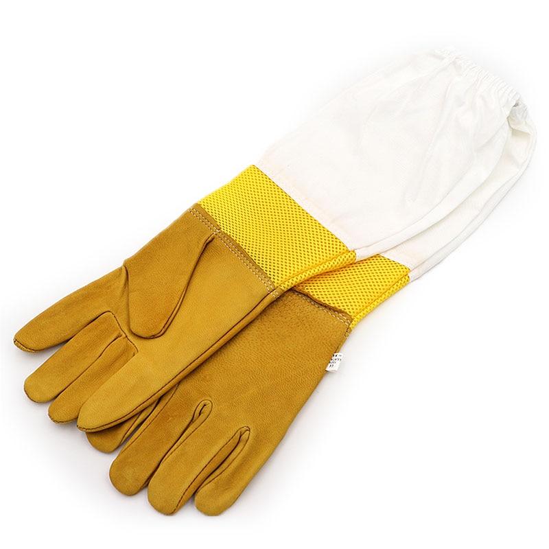 5 Pairs Protective Beekeeping Gloves Sheepskin Bee Gloves Vented Long Sleeves Breathable Bee Gloves Beekeeping Clothing