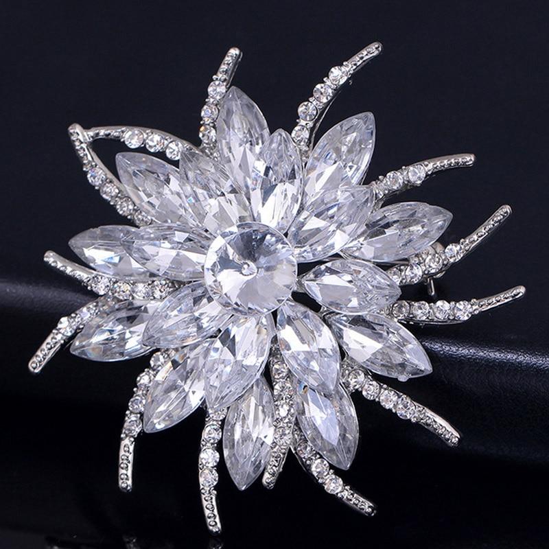 Модные женские туфли кристалл брошь Булавки цветок Броши со стразами Свадебная вечеринка Jewelry подарки @ M23