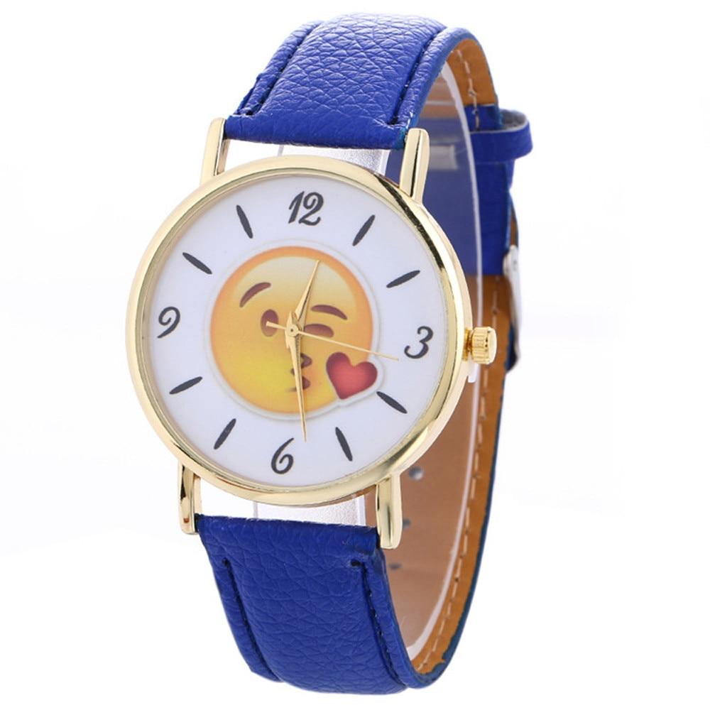 Emoji quartz wristwatches chil...