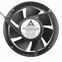 10 pcs Gdstime Metal Case Dual Ball Bearing Industrial DC Cooling Fan 24V 172mm x 51mm Circle Cooler 170mm 50mm 2P 17cm