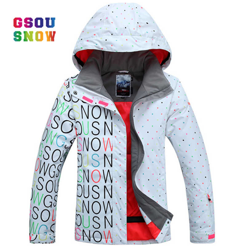 Gsou Snow Ski Jacket Women Thicken Warmth Winter Snowboard Jacket For Windproof Skiing Snow Coats Female Waterproof Ski Clothes snowboard women jacket brands 2018 high quality ski winter windproof waterproof warmth female coat snow winter jacket women ski