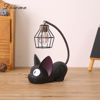 DOSOMA Home Decoration Accessorie Manualidades Miniature Decoration Small Cat Night Light Resin Crafts Decoration