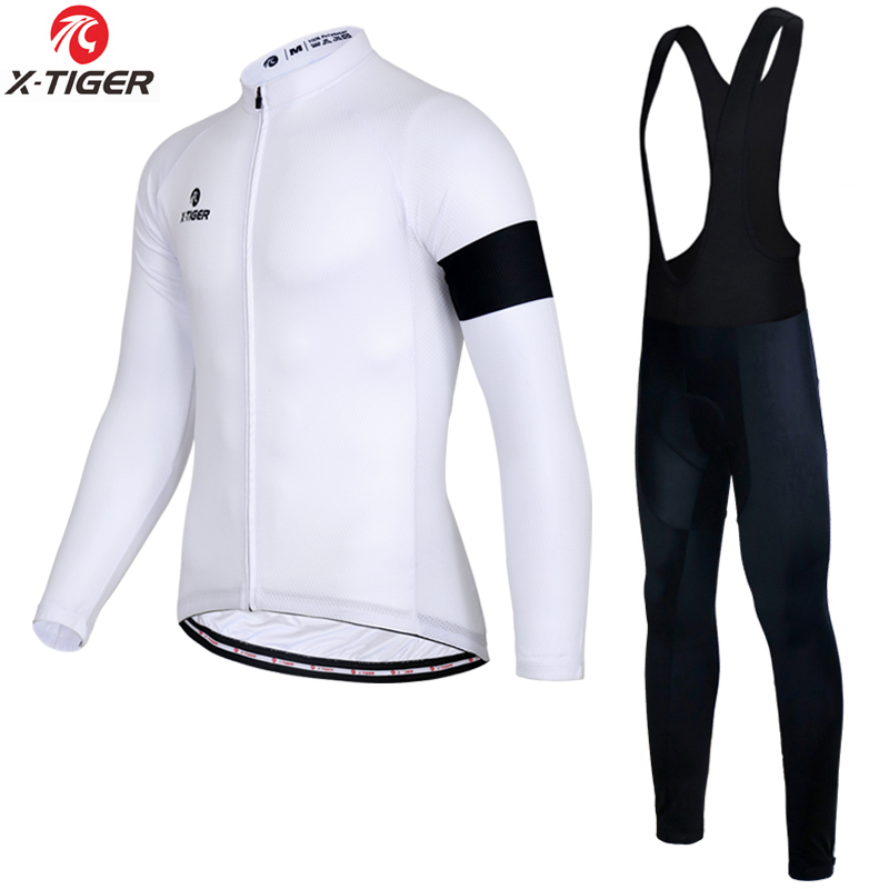 X-TIGER Winter Long Cycling Jersey Set Racing Bike Thermal Fleece Ropa Roupa De Ciclismo Invierno Bicycle Clothing Cycling Set black thermal fleece cycling clothing winter fleece long adequate quality cycling jersey bicycle clothing cc5081