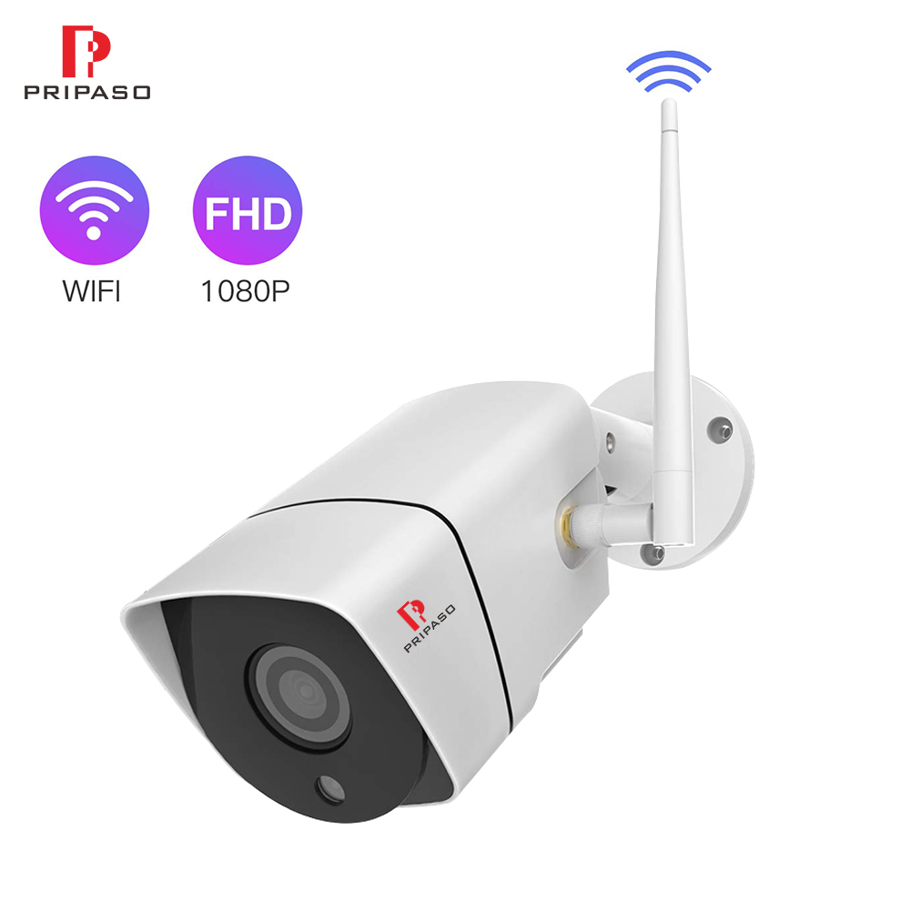 Wifi Camera Outdoor 1080p Micro Sd Slot Ip Camera Hd Security Surveillance Camera Wireless Waterproof 2mp Cctv Cam Ip P2p Rj45 Commodities Are Available Without Restriction Surveillance Cameras