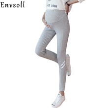 Envsoll 2018 Spring Autumn Maternity Leggings Pregnancy Belly Pants For Pregnant women Maternity Thin Trousers Clothes Leggings cheap COTTON Polyester Natural Color skinny Broadcloth