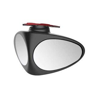 Image 5 - 1 sztuka samochodów wypukłe lustro obrotowe regulowane Blind Spot lustro lusterko szerokokątne przednie koło lusterko wsteczne samochodu 2 kolory