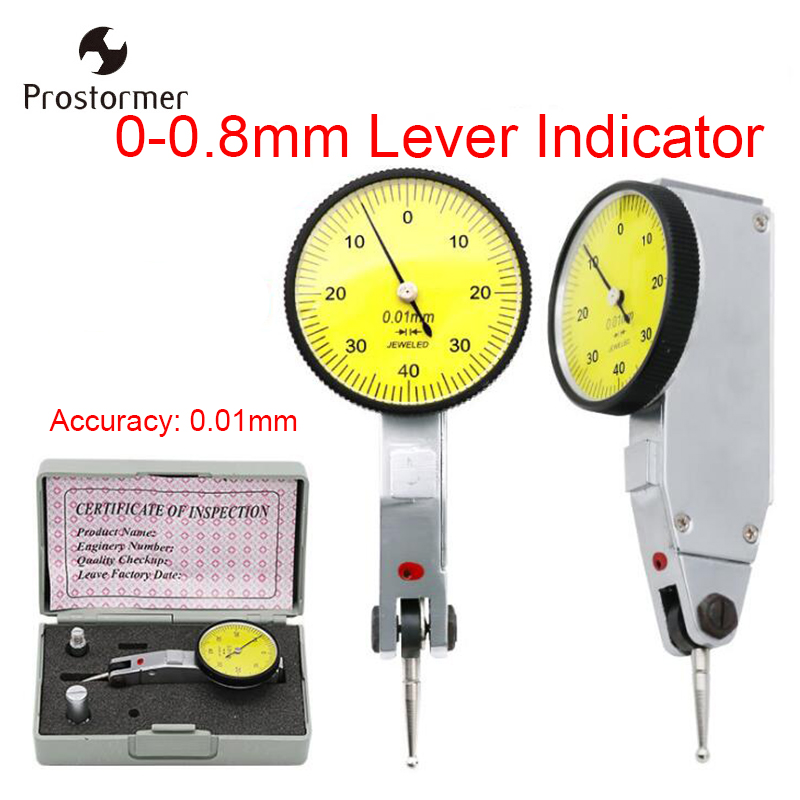 Prostormer 0-0.8mm Lever Indicator Dial Gauge Test 32mm Watch Shock Lever Seat Table Measure Tools цены
