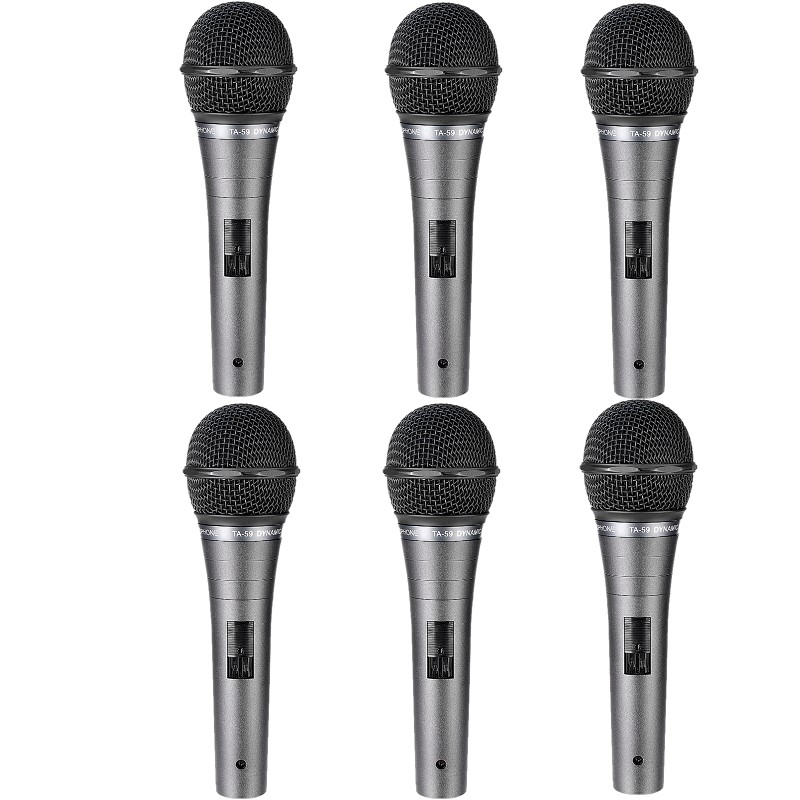 6pcs lot Takstar TA 59 on stage dynamic microphone metal construction built in noise filter for