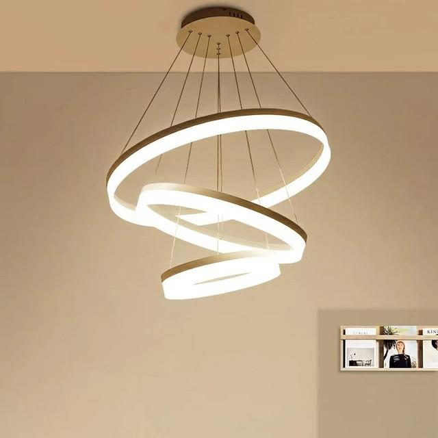 Asian Nordic Scandinavian Lighting Modern Bedroom Ring Designs Led Pendant Lamp Light Cord Fixtures For Dining
