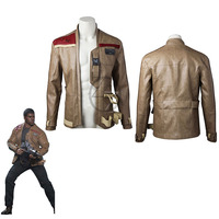 The Last Jedi Finn Cosplay Jacket Movie Star Wars Superhero Costume Coat New Year Clothes Halloween Leather Jacket Adult Men