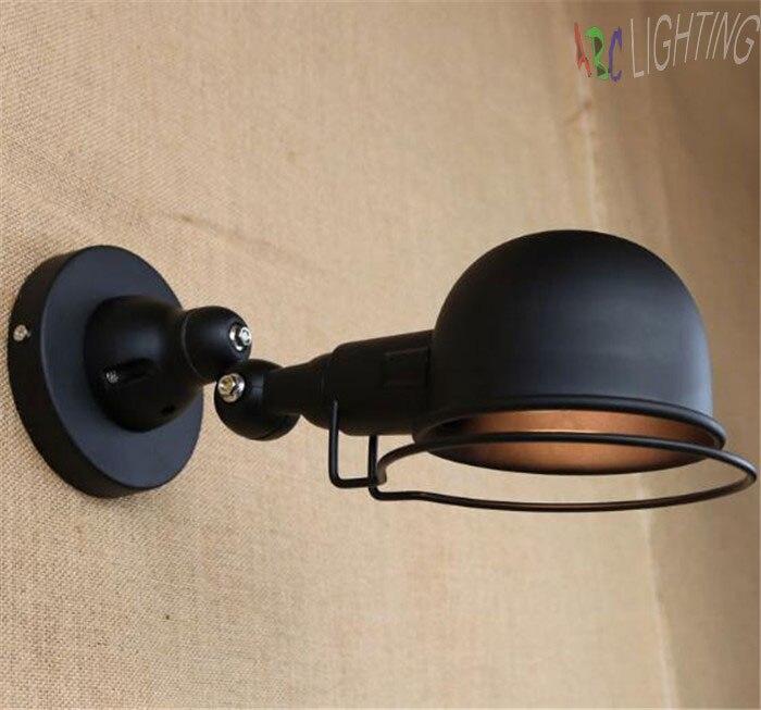 ФОТО Nordic Vintage  Wall Lamp Classic Black Art Sconce Decorative Light Adjustable arandela retro style art decor wedding lamps