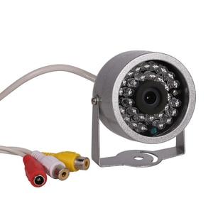 Image 2 - AZISHN cámara de vigilancia con Audio CMOS 700TVL, 30 luces LED de visión nocturna, seguridad exterior, Color metal, impermeable, CCTV