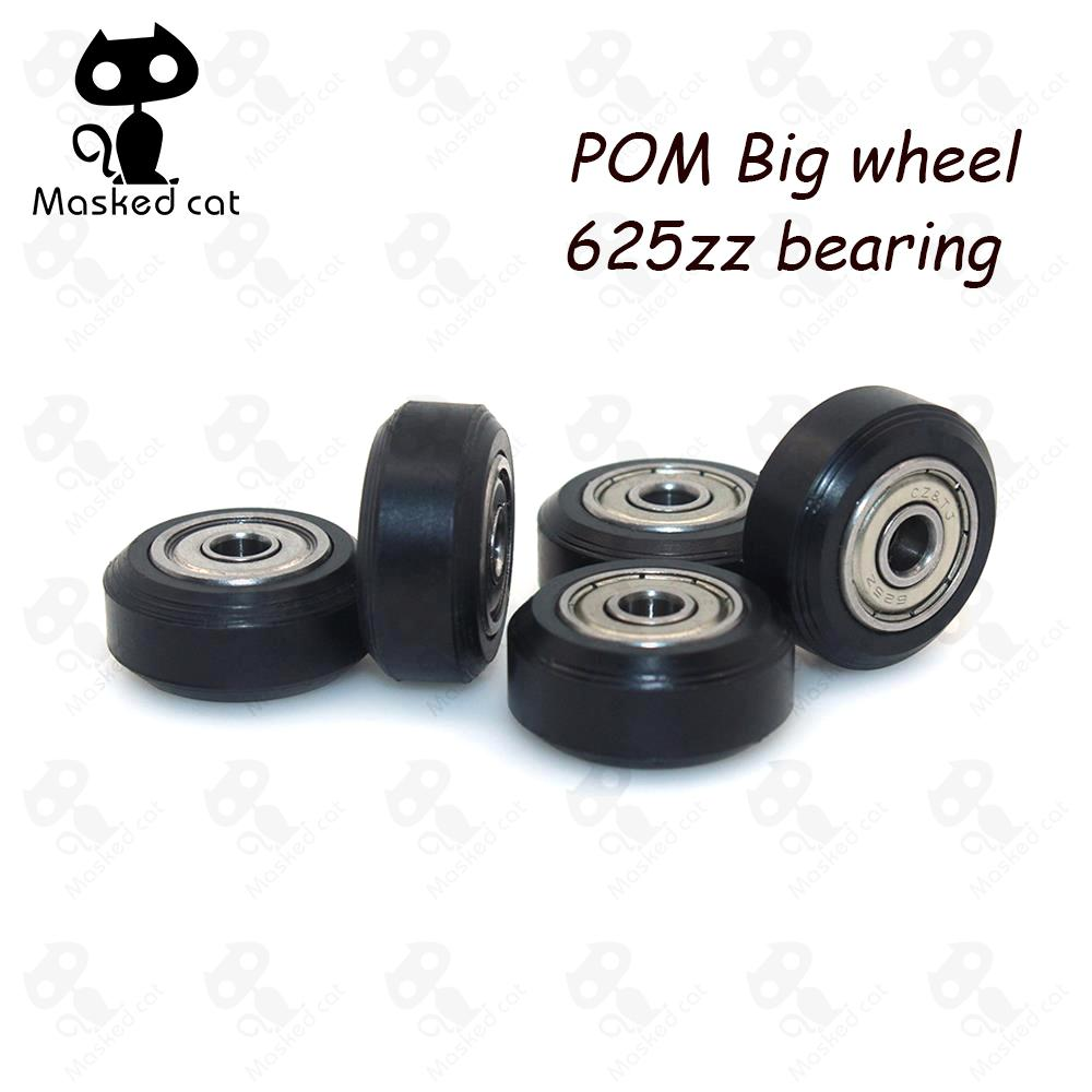 10pcs CNC Openbuilds Plastic wheel POM with Bearings big Models Passive Round wheel Idler Pulley Gear perlin wheel for v-slot