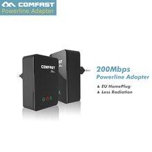 COMFAST 200Mbps Network Powerline ethernet Adapter extender 2 4GHz Mini plc home plug modem Power line