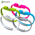 Rondaful 22cm Wrist Bracelet Charging Mobile Phone Cables Micro USB Data Cable For Samsung Galaxy S4 S5 S6 A3 A7 Note 4 5 M9 M8