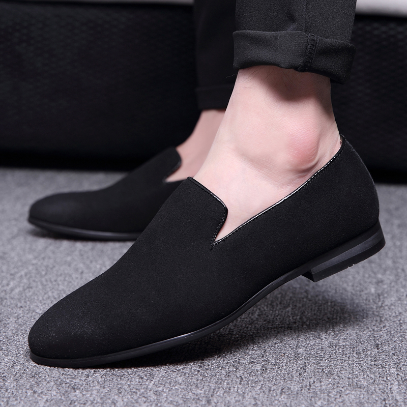 men's leisure stage nightclub velvet leather shoes breathable summer slip on driving flat oxfords shoe teenage young loafers man men s leisure stage nightclub velvet leather shoes breathable summer slip on driving flat oxfords shoe teenage young loafers man