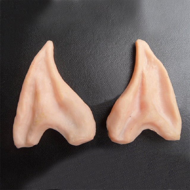 1 Pair Hot Selling  Latex Elf Ears Pointed Cosplay Mask for Halloween Masquerade Party Costumes Festival  False Ears Props 2
