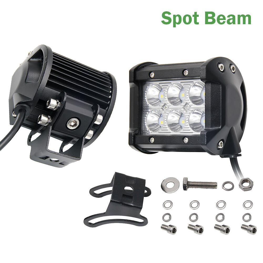COLIFGHT 18 W 12 V LED Travail Light Bar Spot Flood Conduite Brouillard Offroad LED Travail De Voiture Lumières pour Jeep Toyota SUV 4WD Bateau camion