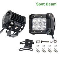18W 12V LED Work Light Bar Spotlight Flood Lamp Driving Fog Offroad LED Work Car Lights