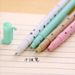 Image 4 - 60pcs/lot Cute cartoon cat gel pen kawaii stationery pens 0.5mm black ink office school supplies papelaria G001