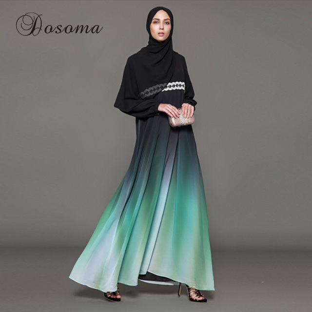 0f9a93b2bed Muslim Maxi Dress Elegant Abaya Lace Cardigan Kimono Jilbab Robe Gowns  Jalabiya Loose Style Middle East Islamic Clothing Party
