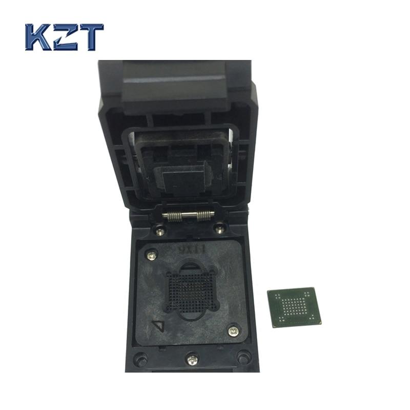 VFBGA63 BGA63 Burn in Socket Test Socket Pin Pitch 0.8mm IC Body Size 9x11mm Programmer Adapter Burning Socket