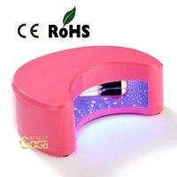 Schönheit Mond Form Sliver Farbe 9 watt Led Uv-härtung Lampe Nagel Polierer Trockner Werkzeugschnelltrockner Pro Fashion Nails Salon Produkt