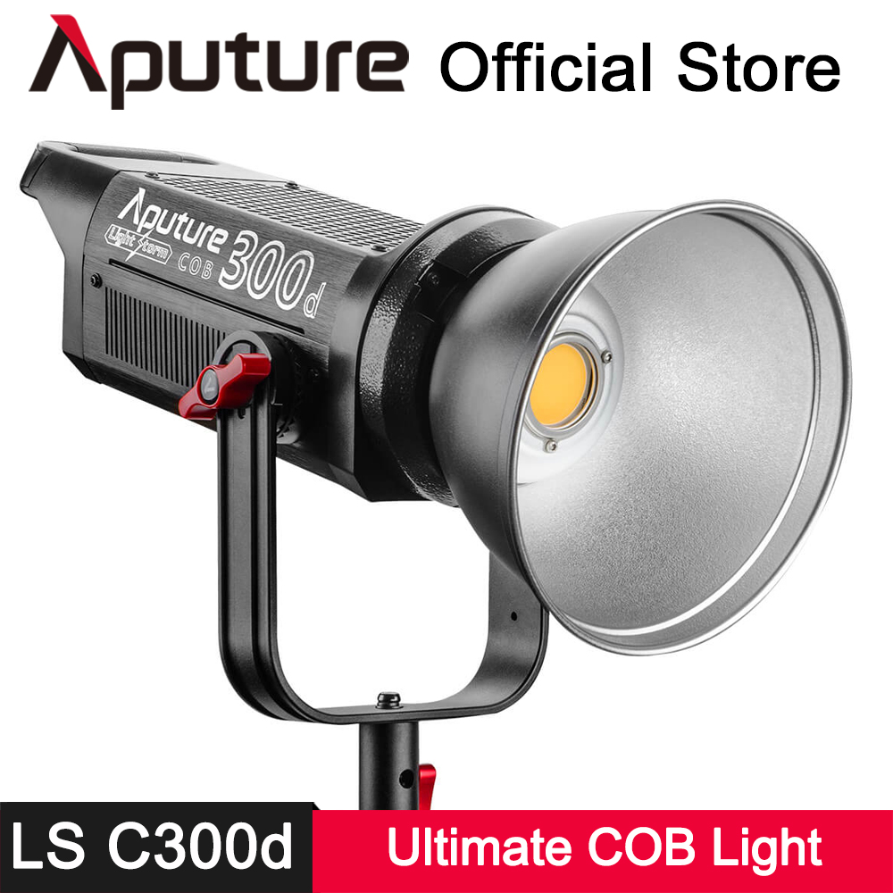 Aputure LS C300D 300W 5500K Daylight COB LED Video Fill Light CRI 95+ TLCI 96+ Bowens Mount Professional Shooting Filming Light aputure ls mini 20 3 light kit two mini 20d and one mini 20c led fresnel light tlci cri 96 40000lux 0 5m 3 light stand case