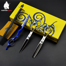 30% off HT9120 hair scissors 6 inch professional left handed hair scissors set japan hair cutting thinning scissors barbershop(China)