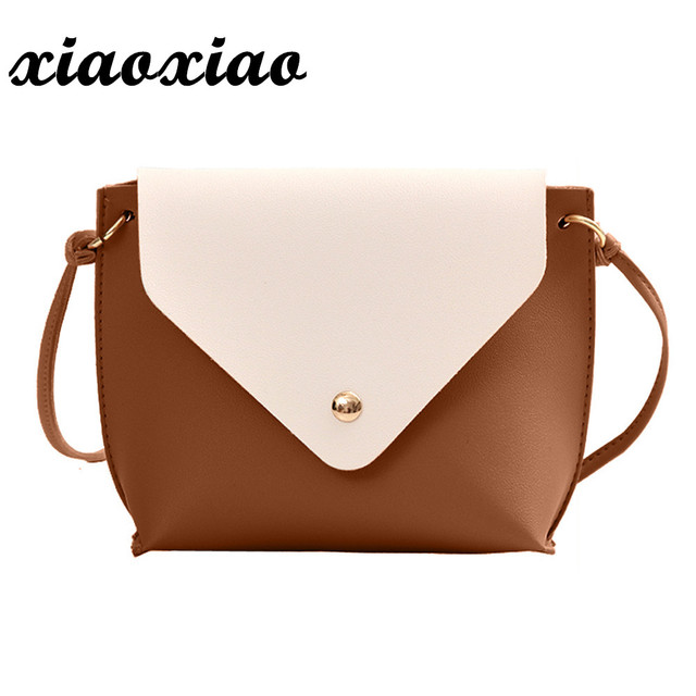 0b8914ab9099 Women Leather Hit Color Shoulder Bag Messenger Satchel Tote Crossbody Bag  Luxury Lady Hand Bags With Purse Pocket