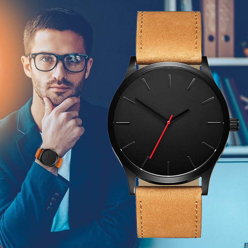 2018 Big Dial Watches For Men Hour Mens Watches Top Brand Luxury Quartz Watch Man Leather Sport Wrist Watch Clock relogio saat olevs big dial watches men moon phase men watches top brand luxury quartz watch man leather sport wrist watch clock relogio saat