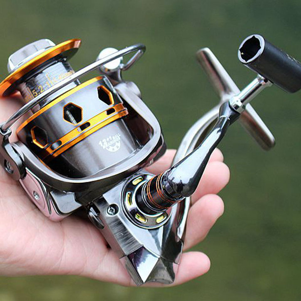 12+1BB 5.2:1 Full Metal Spinning Fishing Reel Super AMG3000 & 4000 Series Fishing Wheel Sea Reel Carp Fishing Tackle AMG катушка для удочки pisces spinning reel factorysy400010 1bb white5 0 11bb reelkb 3000 baitcaster spinning fishing reel 4000