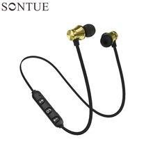 Portátil Fones de Ouvido Sem Fio Bluetooth Fones De Ouvido fone de Ouvido Esportes SweatProof Fone de Ouvido para iPhone xiaomi telefones Magnético