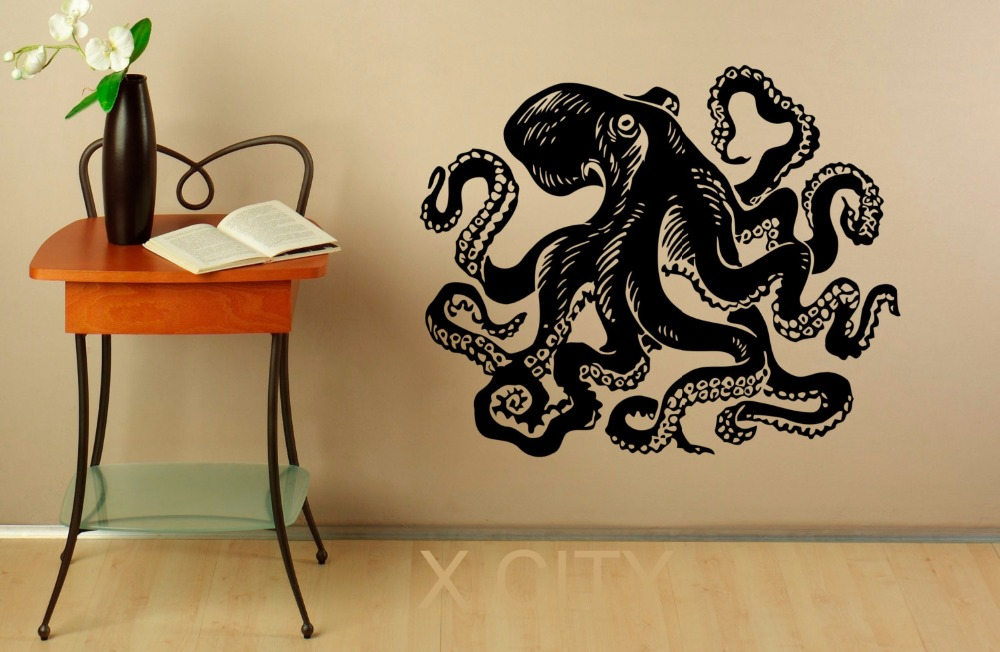 popular octopus wall decal buy cheap octopus wall decal lots from china octopus wall decal. Black Bedroom Furniture Sets. Home Design Ideas