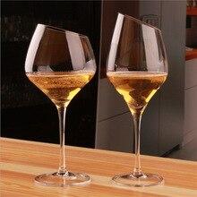 Хрустальная красная винная чашка косой красный винный бокал Боер обычный винный бокал Бургундия чашка пивная чашка