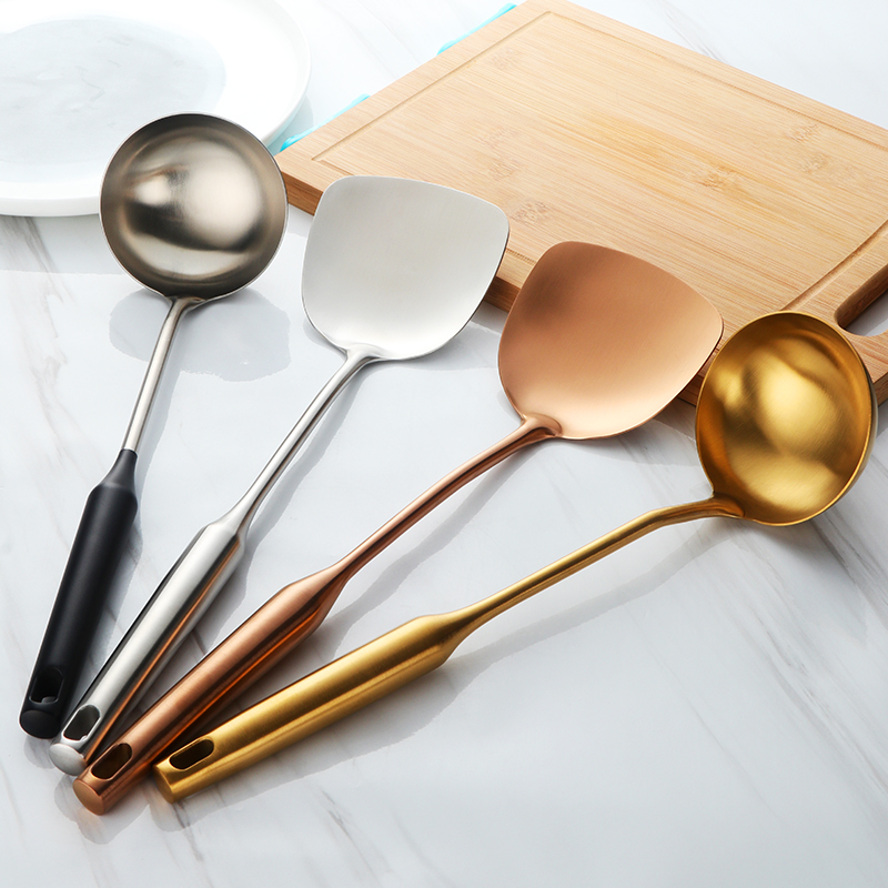 Stainless Steel Ladle And Turner Kitchen Magical