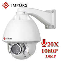 IMPORX IP Camera Auto Tracking 1080P 20X ZOOM P2P IR 150M With Wiper PTZ IP Camera Home Security Surveillance With MiscroSD Card