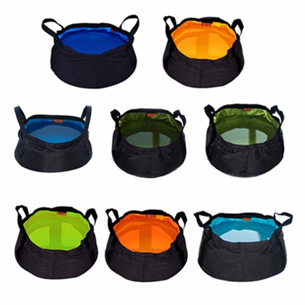 Portable 10L Folding Bucket Jerribag Wash Basin Foldable Camping Water Pot Pail