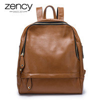 New Sale Women Backpack 100 Genuine Leather Fashion Female Travel Bags Practical Schoolbags For Girls Large