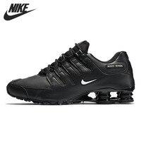 Оригинальный Новое поступление 2018 NIKE SHOX NZ EU для мужчин's кроссовки спортивная обувь