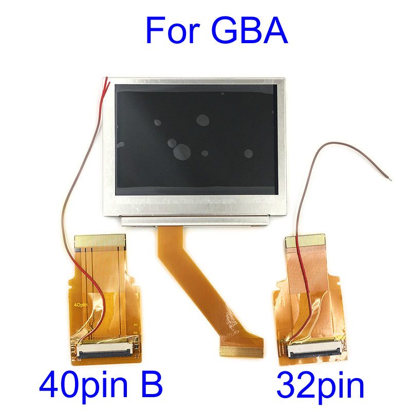 For Nintendo <font><b>GameBoy</b></font> Advance LCD Screen For GBA SP <font><b>AGS</b></font> <font><b>101</b></font> Highlit Screen LCD OEM Backlit Brighter with 40pin 32pin ribbon cable image