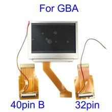 لنينتندو جيمبوي مقدما شاشة LCD ل GBA SP الخرق 101 شاشة هايليت LCD OEM الخلفية أكثر إشراقا مع 40pin 32pin الشريط الكابل