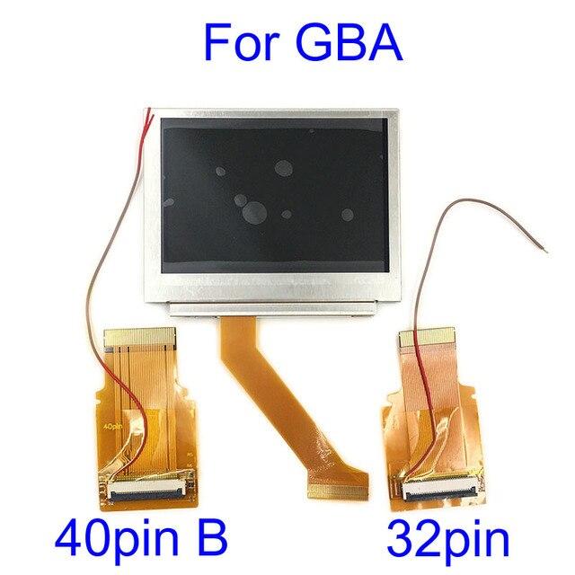Pour Nintendo GameBoy avance écran LCD pour GBA SP AGS 101 Highlit écran LCD OEM rétro éclairé plus lumineux avec 40pin 32pin câble ruban