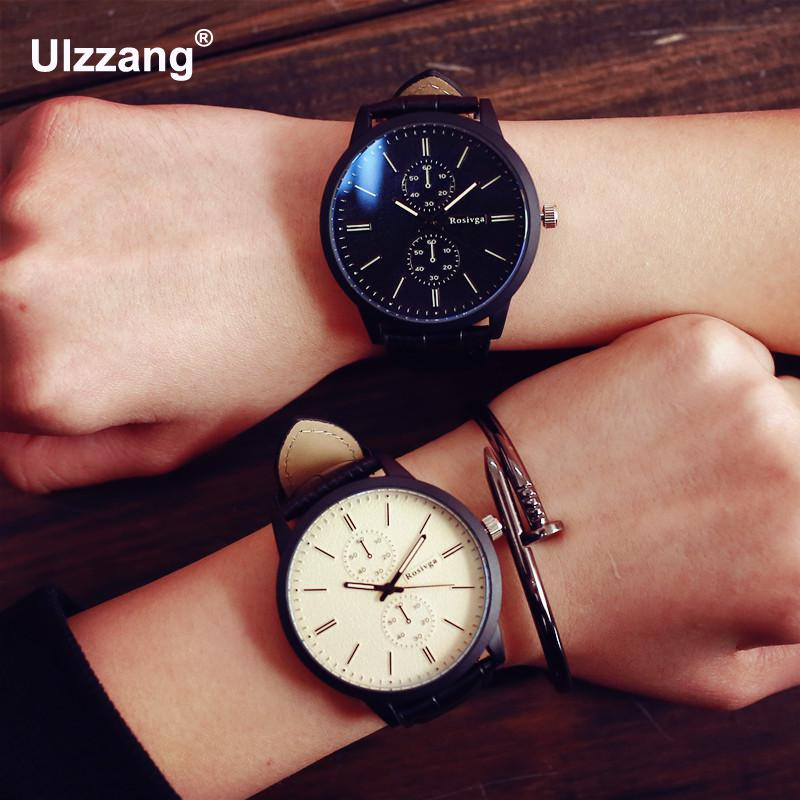 2018 New Germany Bauhaus Design Simple Sport Style Blue Ray Shockproof Leather Wristwatches Watches for Men Male Women