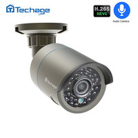 Techage H.265 1080P Audio POE IP Camera 2MP Video CCTV Security Camera ONVIF for POE NVR System Waterproof Outdoor Night Vision