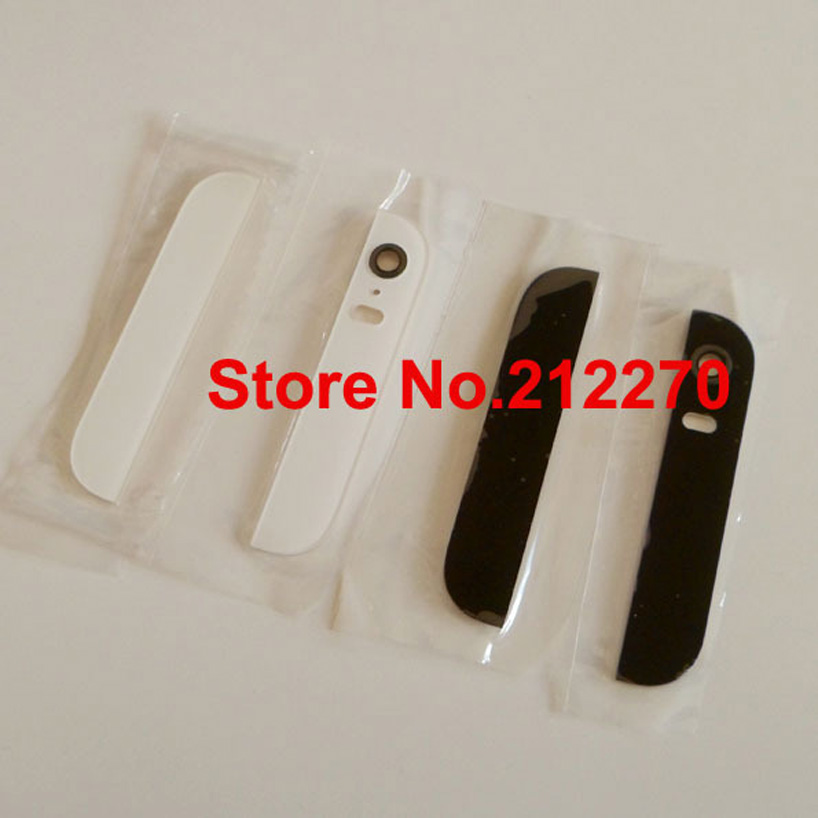 50set lot New Top Bottom Glass Back Cover Housing With Camera Lens Flash Diffuser For iPhone