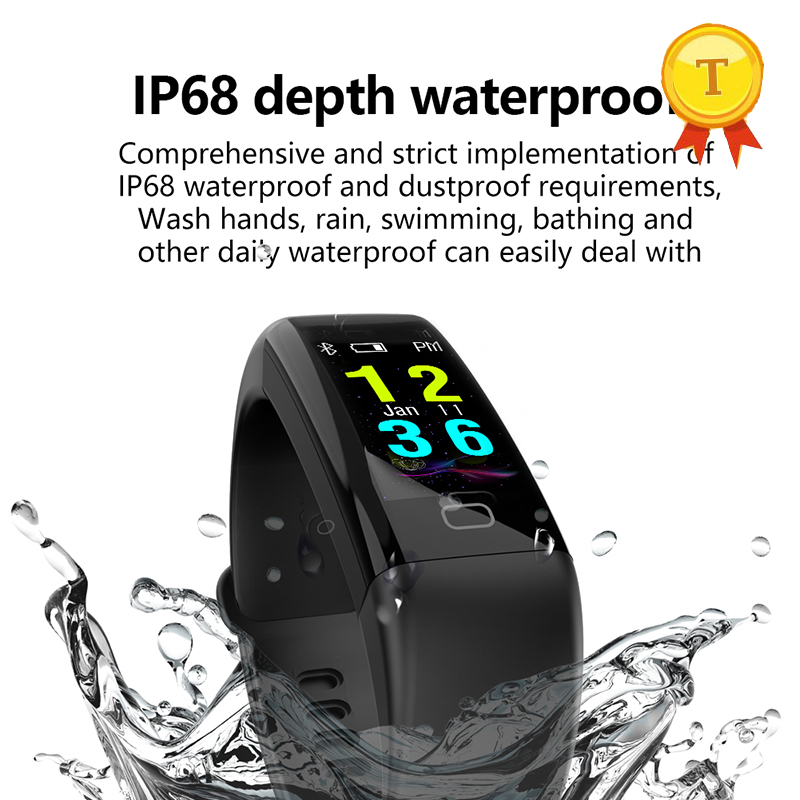 все цены на ip68 real swim waterproof Smart bracelet heart rate monitor Blood Pressure Oxygen smart band watch for ios android PK mi band 2