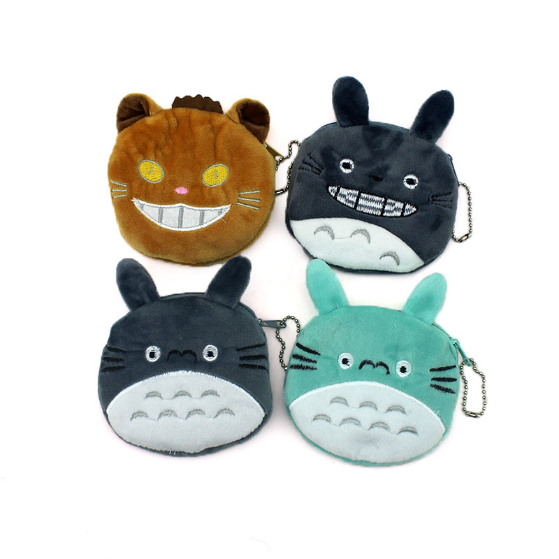 Cartoon Coin Purse Women Card Holder Bag Children Coin Bag Cute Totoro Coin Wallet Small Ladies Fabric Zipper Coin Wallets new cute hello kitty handbag pink red girls purse cartoon cat coin bag ladies keychain wallets zipper key holder cash case
