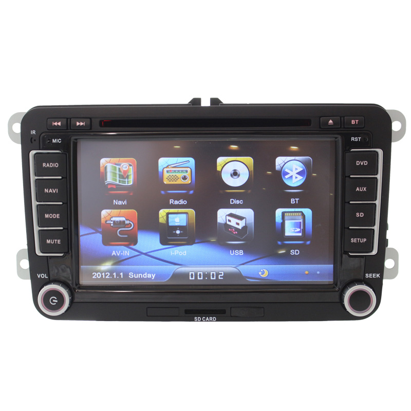 7 2 din font b Car b font DVD GPS radio player for Volkswagen VW golf